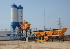 HZS50 Concrete Batching Plant in Southeast Asia