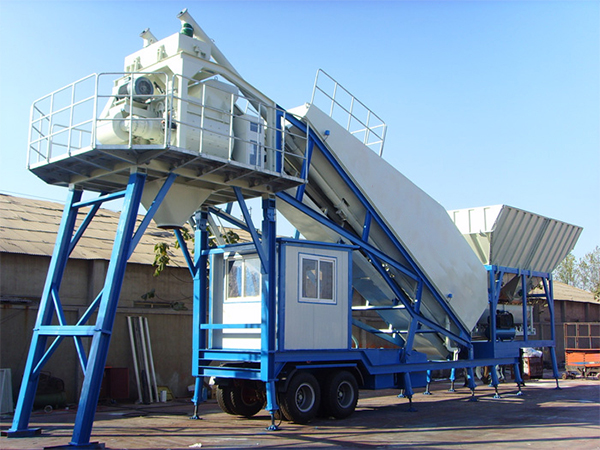 YHZS40 Mobile Concrete Mixing Plant