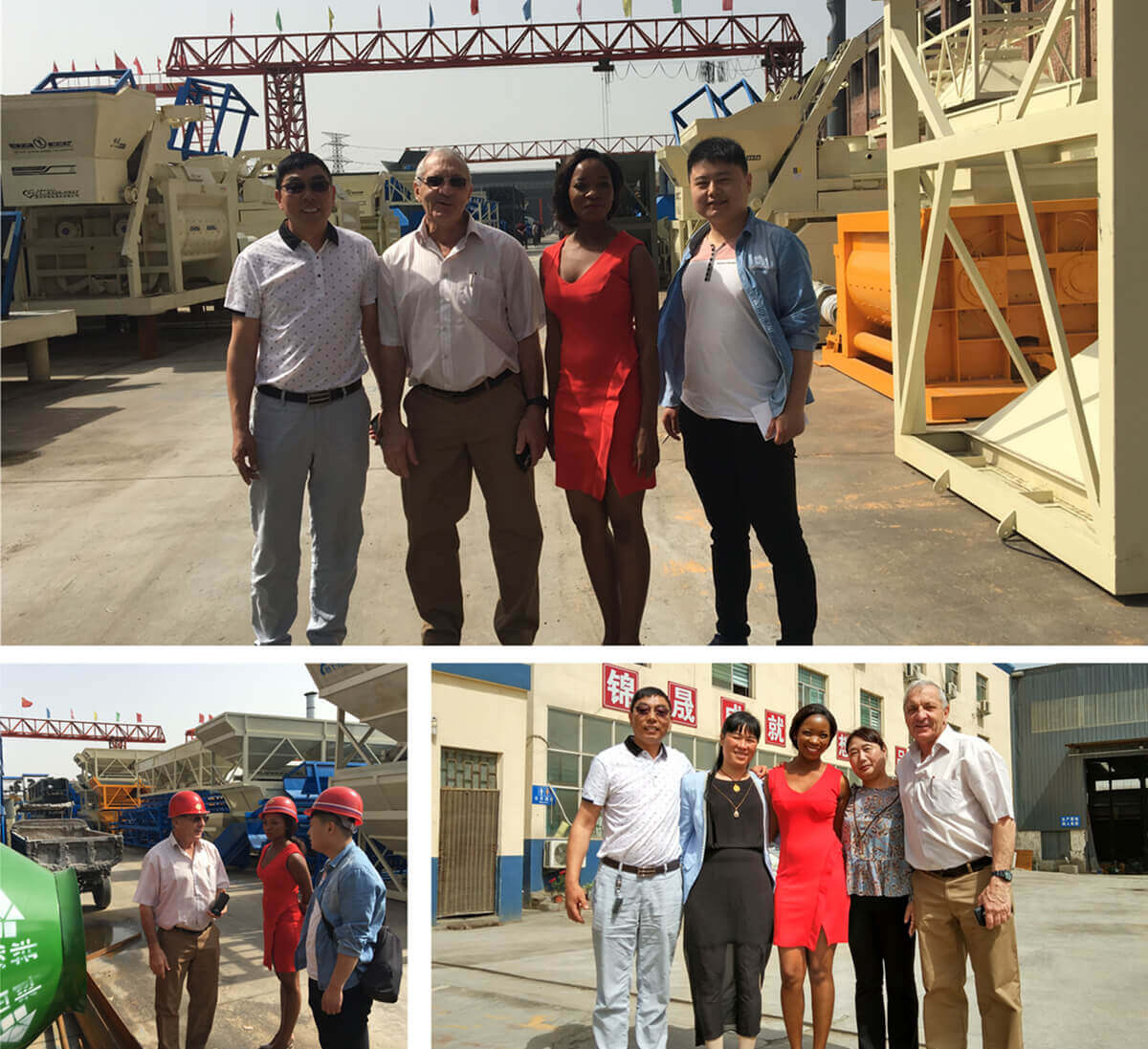 America Customer Visited Zhengzhou Jinsheng Construction Machinery Co.,Ltd.