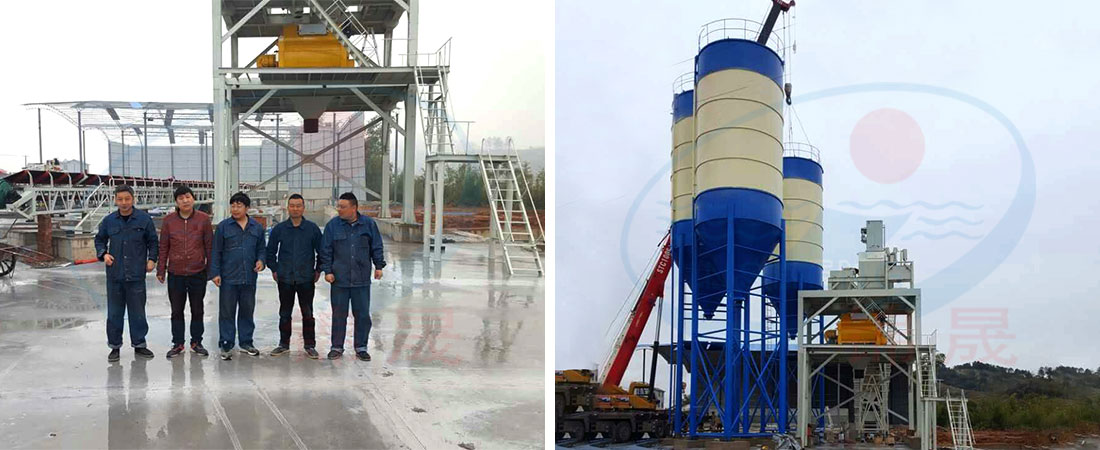 180m³/h concrete batching plant