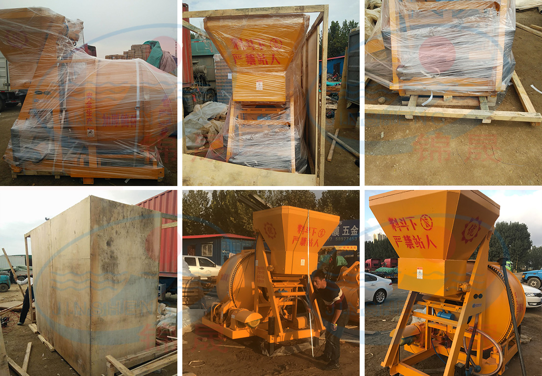 JZC350 Concrete Mixer was Delivered to Greece